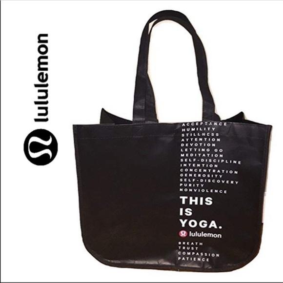437d656013b lululemon athletica Bags | Lululemon Large Tote Black New | Poshmark